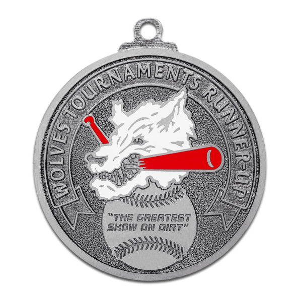 Custom spin mast medal with Color fill